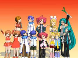Vocaloid Families by CuteLittleVixen