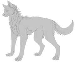 [Free to use] Wolf Lineart by Lunandria