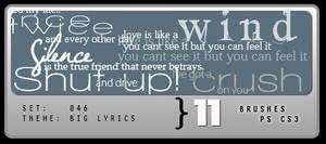 046: Big Lyric Brushes by Lexana