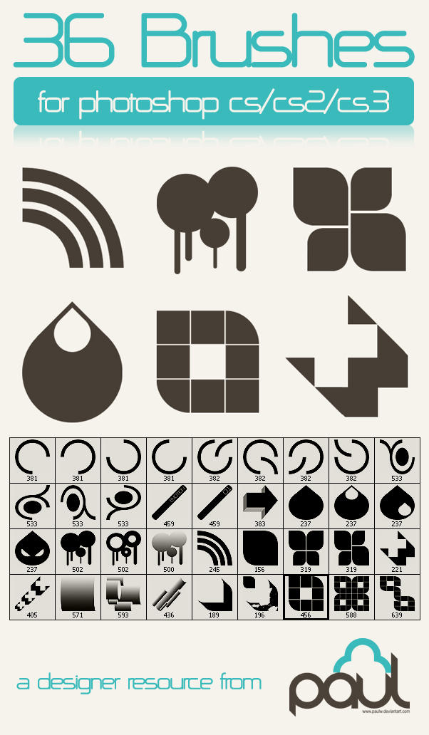 36 Vector Brushes for CS 1+2+3 by PAULW