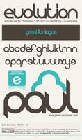 Evolution Font psCS Brush Pack