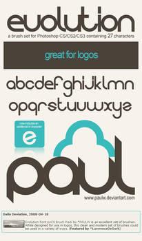 Evolution Font psCS Brush Pack