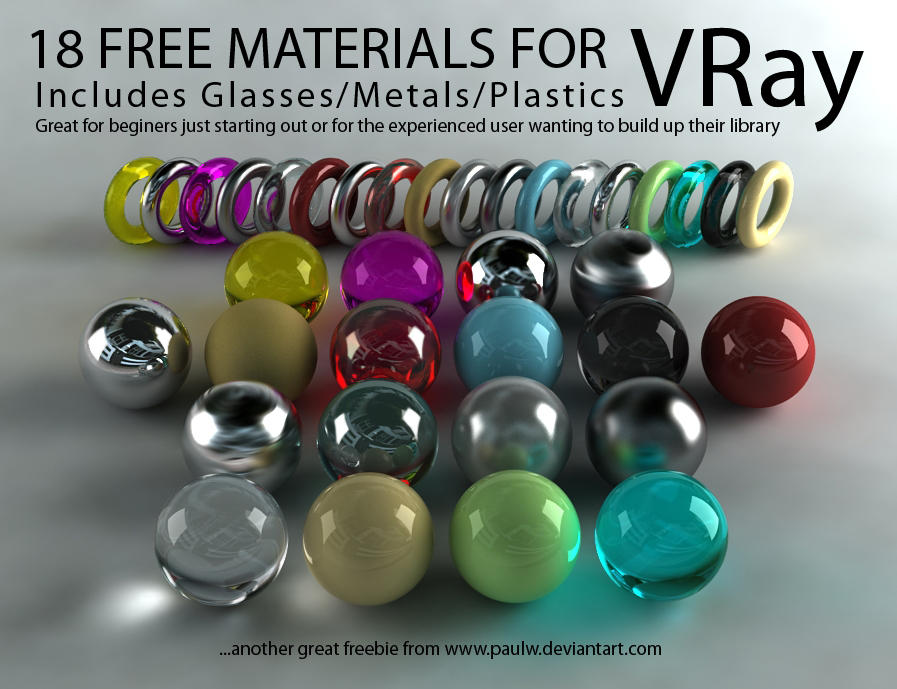 18 free vray materials by paulw on deviantart for Mirror vray material