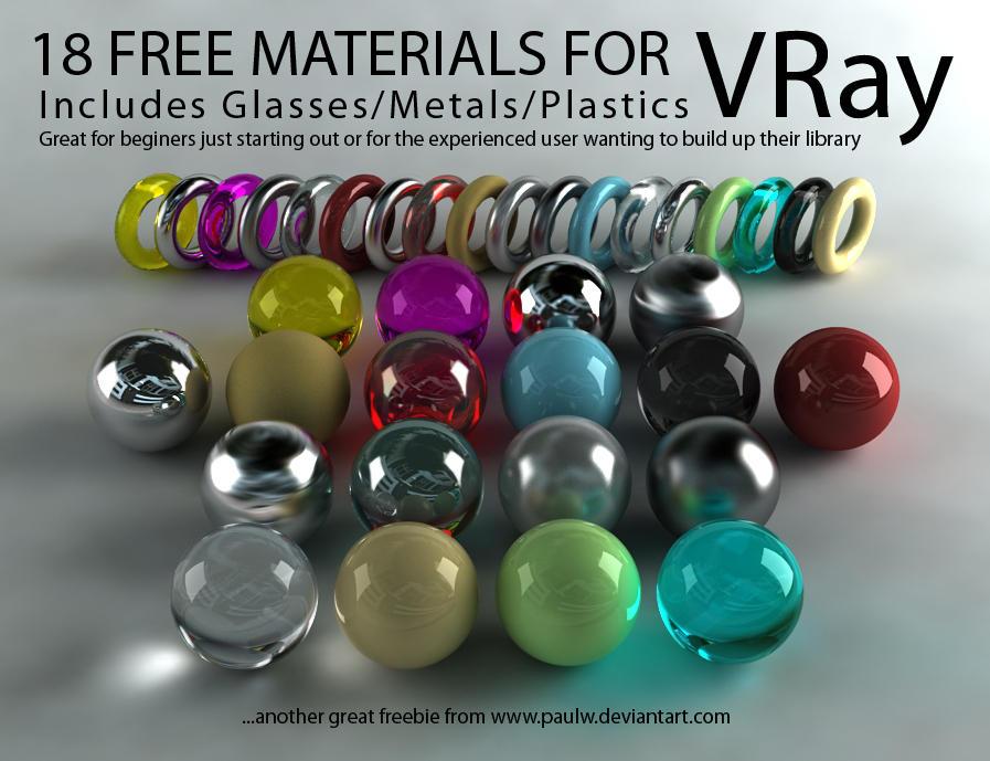 18 materiales para VRay gratuitos | ZaRQuN com - Blog sobre