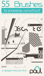 55 Abstract Tech Brushes by PAULW