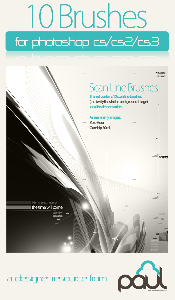 10 Scan Line Brushes