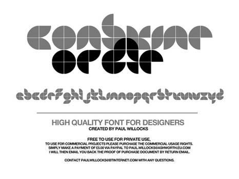 Consume of Die - Typeface