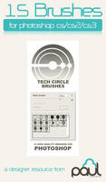 Tech Circle Brushes by PAULW