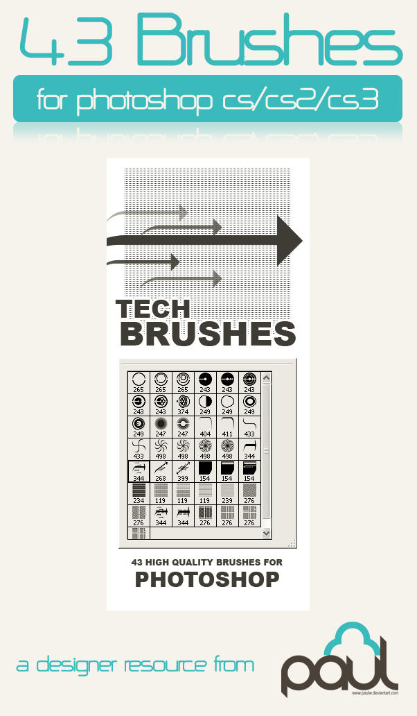 1000+ great Photoshop free brushes by PaulW