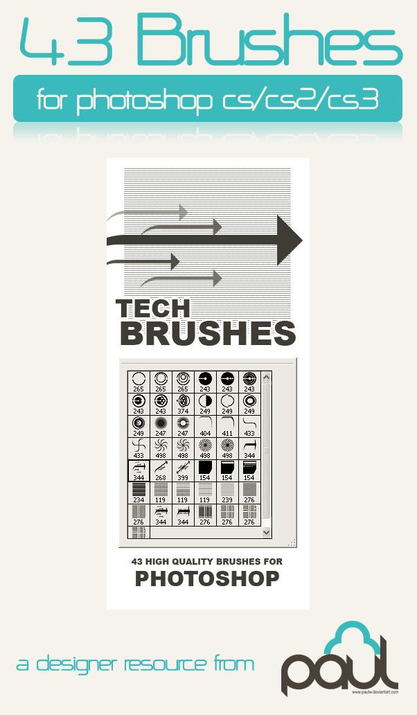Tech Brush Mega Pack by PAULW