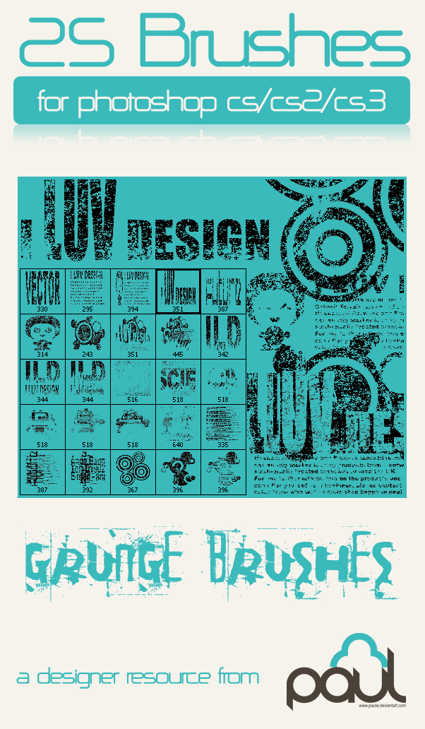 'I Luv Design' Grunge-Vector