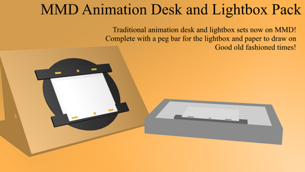 MMD Animation Desk and Lightbox Pack (DL) by DreamyLovesMe88