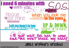 Jonas Brothers Brushes by camiiki