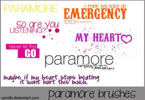 Paramore Brushes by camiiki