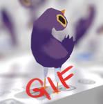 Trash Dove meme GIF