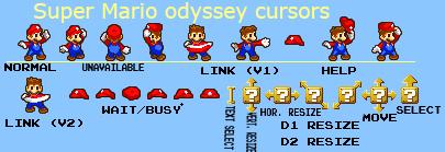 Super Mario odyssey cursors by oufai