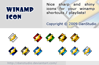 winamp icon by danstudio customization icons os icons windows 2009    Winamp Icon Blue