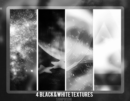 Black and White Textures by signpoison