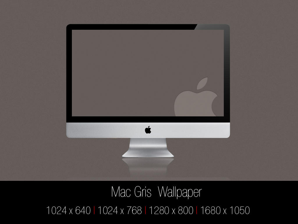 Mac Gris Wallpaper by Mr-JC