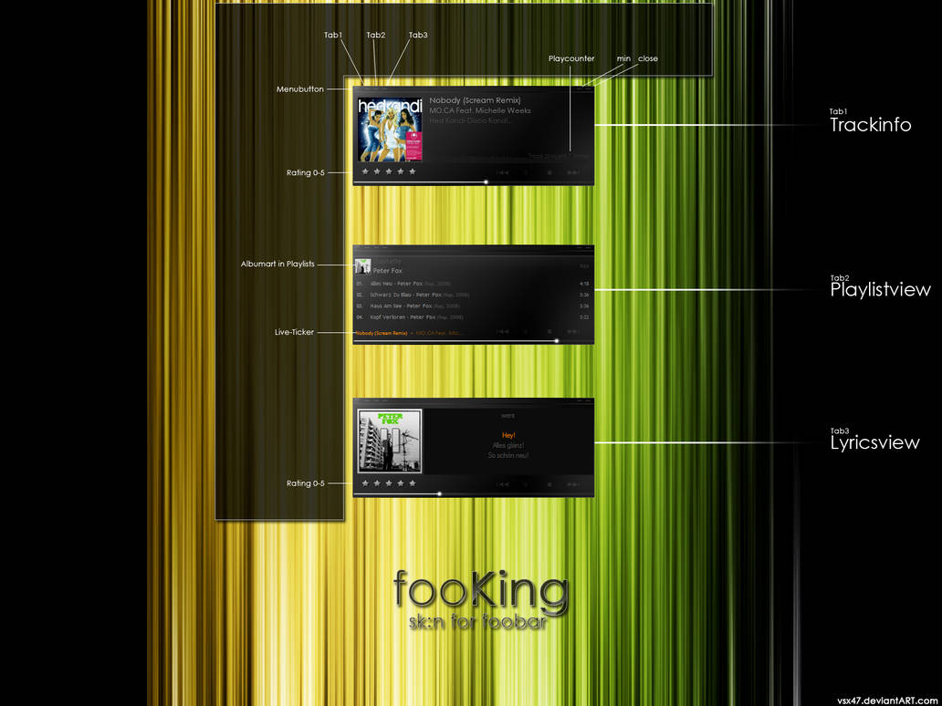 fooKing sk:n for foobar2000