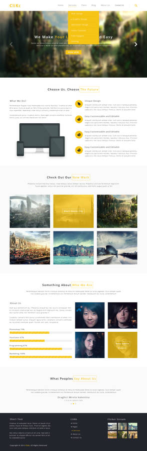Click- Creative Modern PSD template (freebies) :D