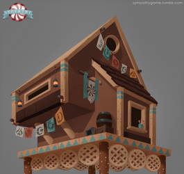 Gingerbread Cabin Process (GIF)
