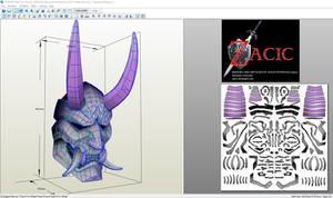 Fade Mask Fortnite Paper unfold by ZACIC foam unfo