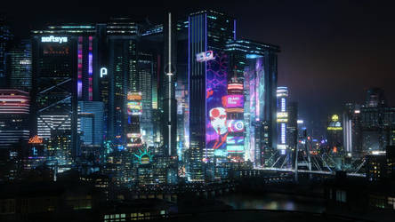 CyberPunk2077City by Banedage