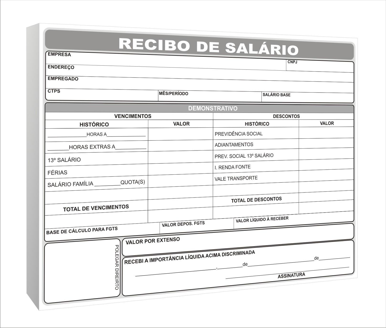 Recibo De Salario By Graficaebrindes On Deviantart