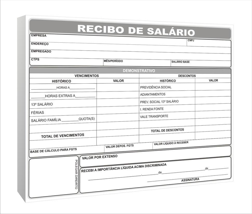 Recibo de Salario by graficaebrindes