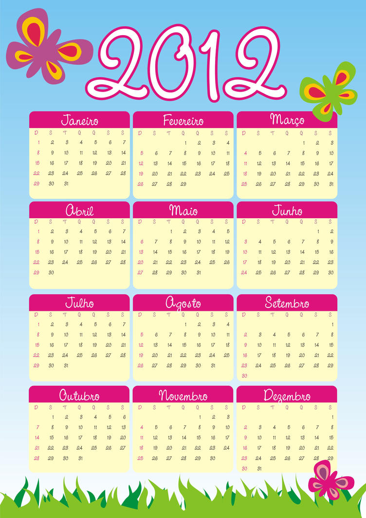 Tutorial Calendario Infantil by graficaebrindes