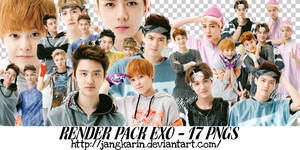 [Render Pack] #9 EXO for SM Pop-up Part 2 - 17 PNG by jangkarin
