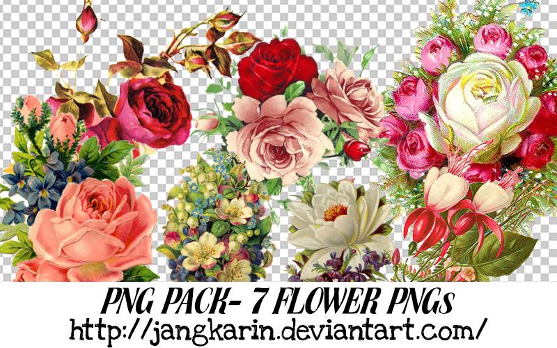 [PNG Pack] Vintage Flower PNG - 7PNGs by jangkarin