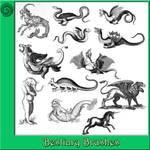 12 Bestiary Brushes