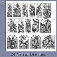 24 Vitral Brushes by Trash63