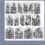 24 Vitral Brushes