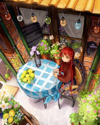 Art raffle prize progress! by O-hikaku