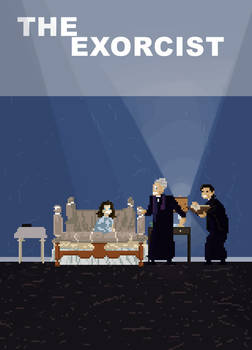 The Exorcist Animated Pixel Poster