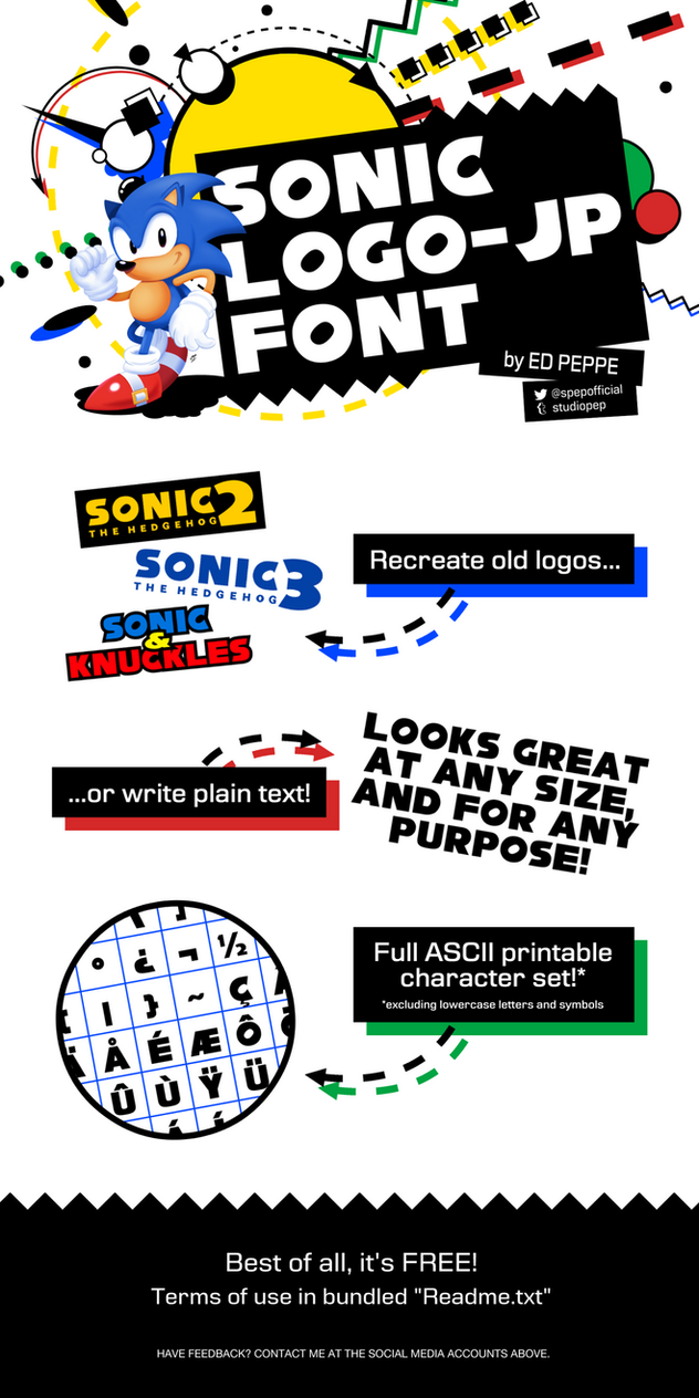 Sonic Logo-JP Font by StudioPEP