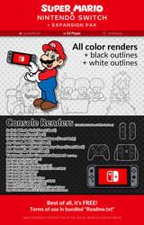 Super Mario x Nintendo Switch + Extension Pak
