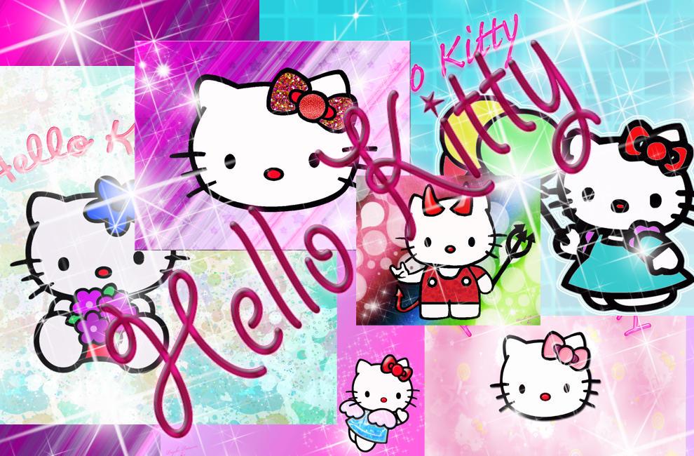 hello kitty rainbow wallpaper
