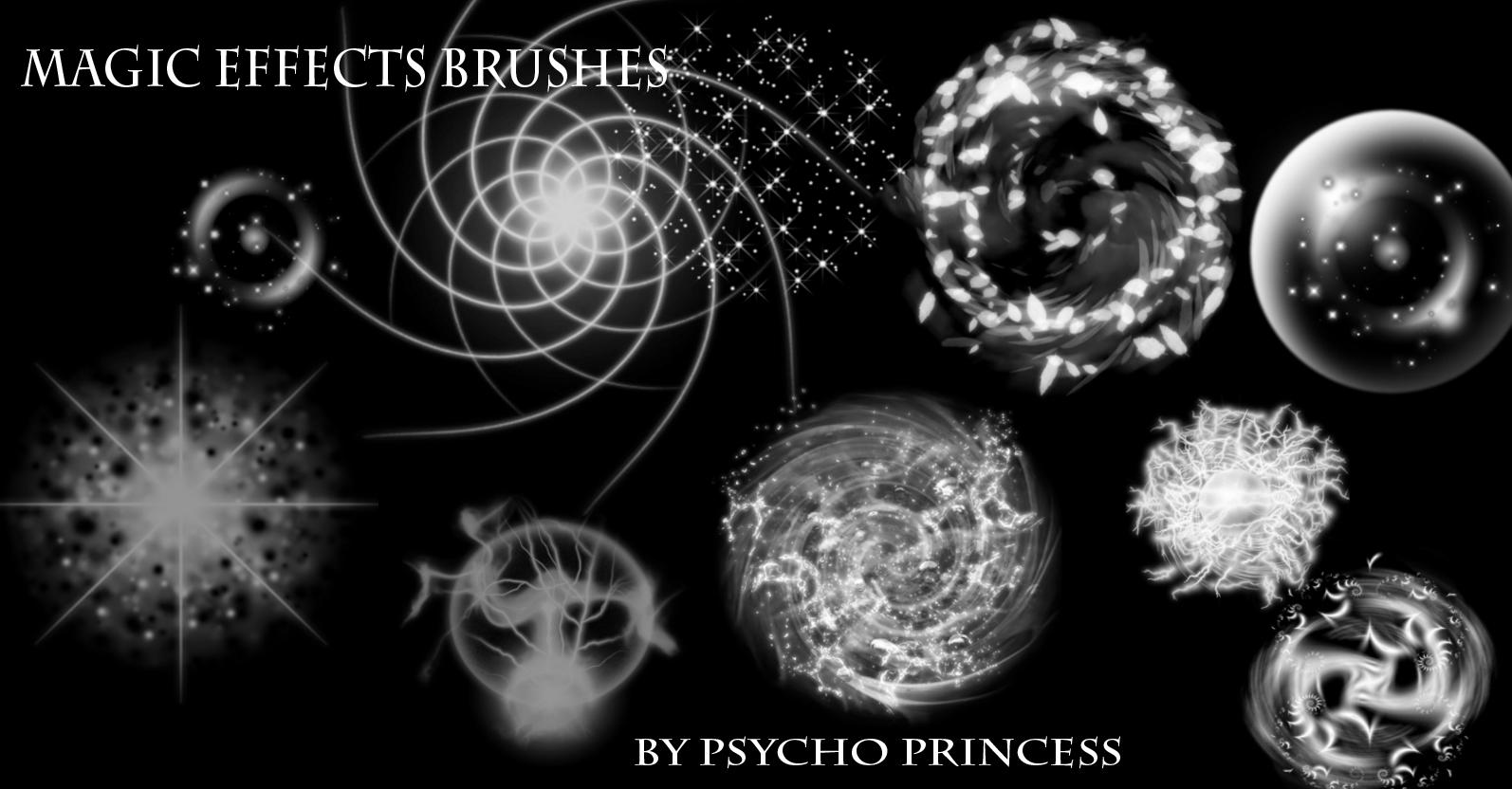 Magic Effect Brushes by Psycho--Princess