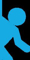 Portal 2 - Logo Runner - Blue