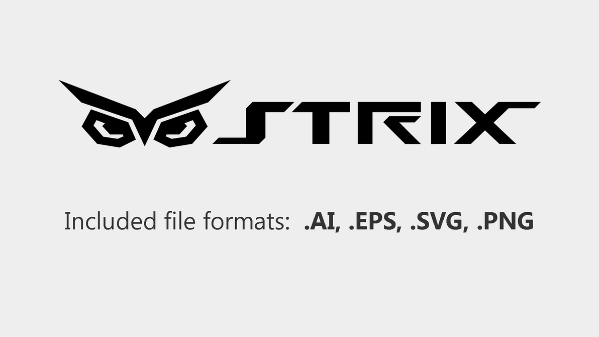 ASUS STRIX logo vector by RenegadeAI
