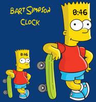 Bart Simpson Clock