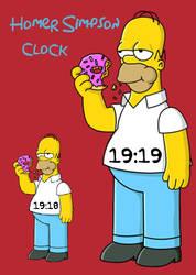 Homer Simpson Clock