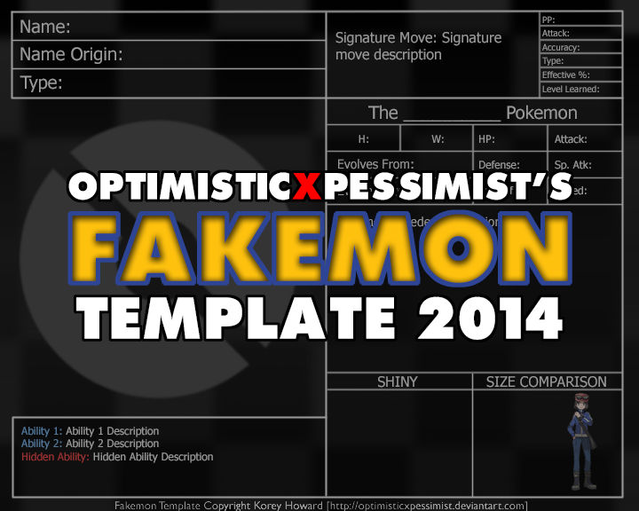 Fakemon Template - 2014 Update :Download: