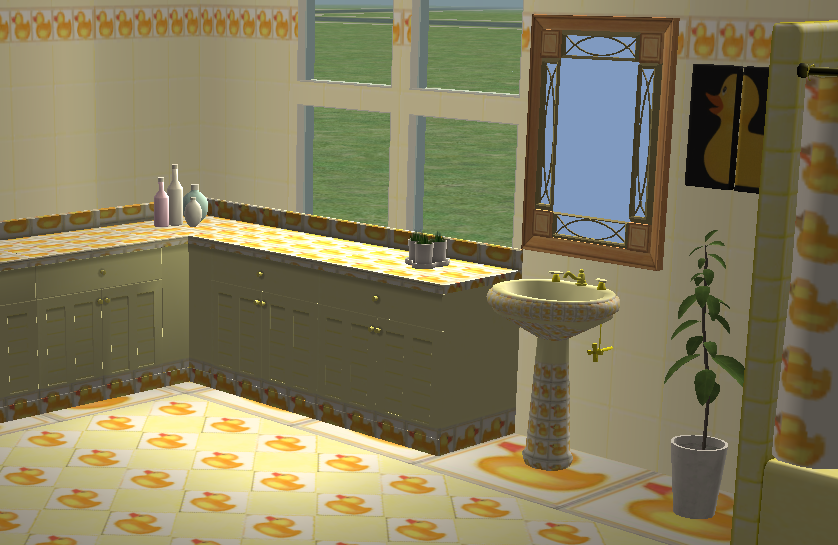 Rubber ducky bathroom sims 2 by violablu on deviantart