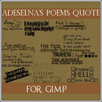 Adeselna's quote GIMP brushes