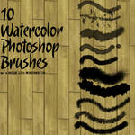 10 Watercolor Photoshop Brushes